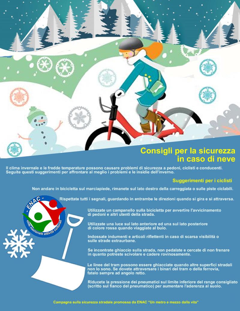 Consigli per la sicurezza in caso di neve