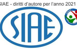 SIAE - diritti d'autore per l'anno 2021